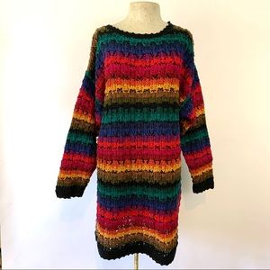 Vintage 1990s M/L The Limited Knit Rainbow Sweater